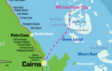 Great Barrier Reef Karte.Where Is Michaelmas Cay On The Great Barrier Reef Michaelmas Cay